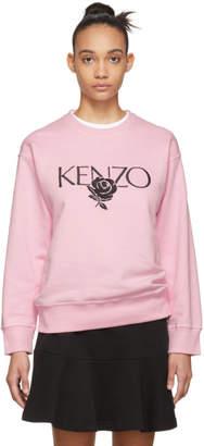 Kenzo Pink Roses Logo Sweatshirt
