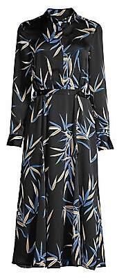 Equipment Women's Sabenne Palm Print Maxi Shirtdress