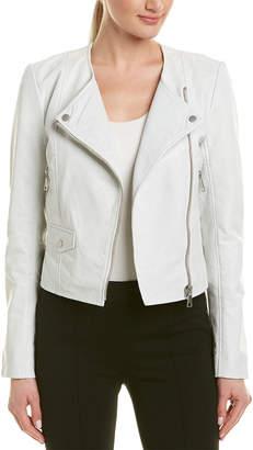 Bagatelle Perforated Leather Moto Jacket