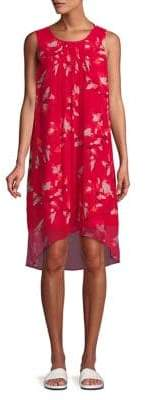 Halston H Sleeveless Floral Shirt Dress