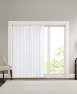 "Madison Park Irina Extra Wide 100"" x 84"" Embroidered Diamond Sheer Window Panel"