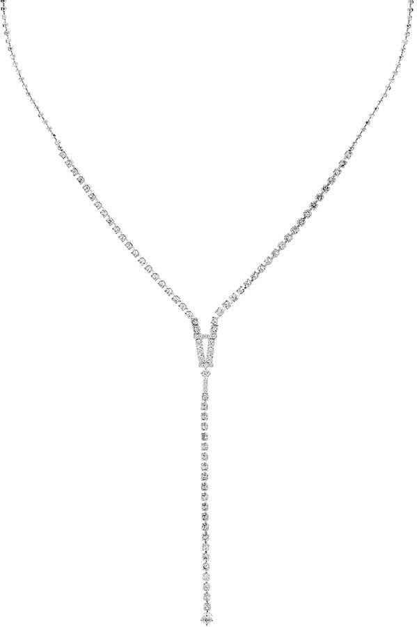 Gloria Simple Y Necklace, 16