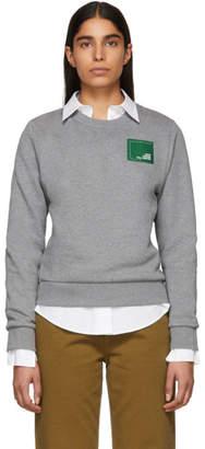 Carven Grey Branded Patch Sweatshirt