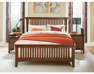 Rails Inspired by Bassett Modern Mission Bed Set with Headboard, Footboard and Bed Rails, Multiple Sizes