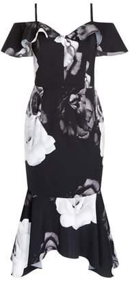 City Chic Rose Shadows Sheath Dress