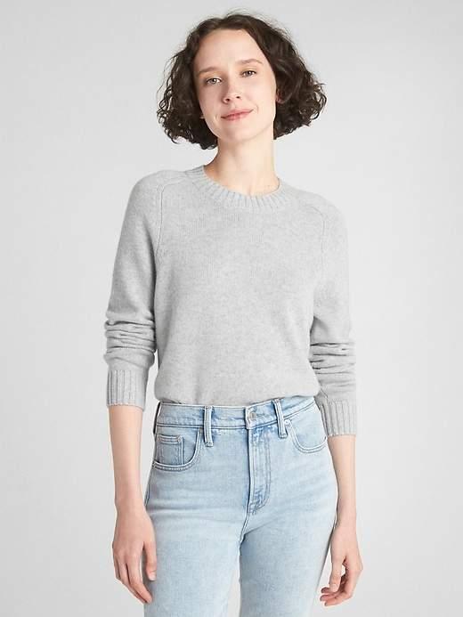 Crewneck Pullover Sweater in Cashmere
