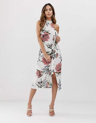 AX Paris White printed midi dress