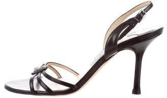 Jimmy Choo Leather Slingback Sandals