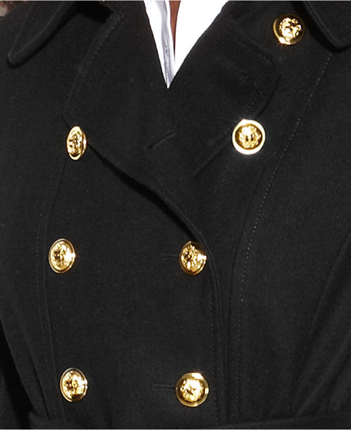 INC International Concepts Double-Breasted Belted Wool-Blend Coat
