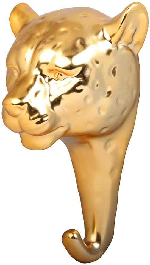 &Klevering - Panther Wall Hook - Porcelain - Gold