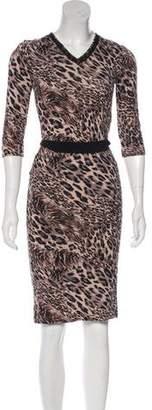 Robert Rodriguez Midi Print Dress