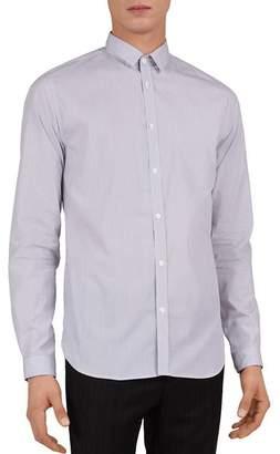 The Kooples Ashton Texture Striped Slim Fit Button-Down Shirt
