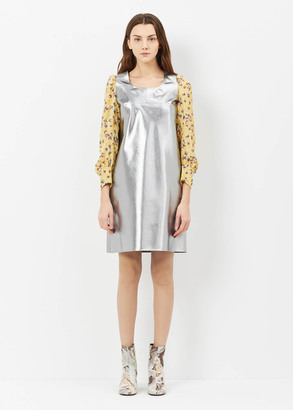 Junya Watanabe silver l/s shift dress $776 thestylecure.com