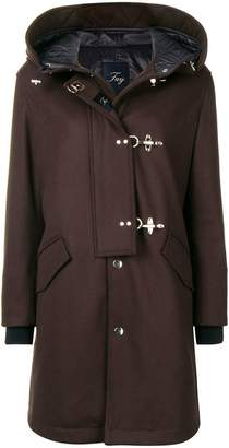 Fay hooded buttoned coat