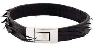 Tateossian Black Leather Bracelet