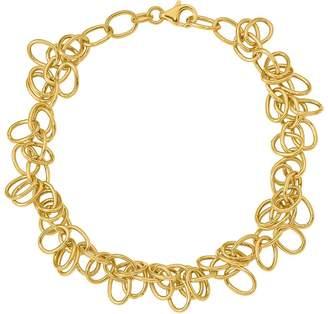 Italian Gold Oval Link Dangle Bracelet 14K, 5.6g