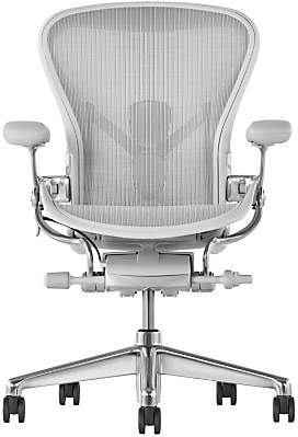 Herman Miller New Aeron Office Chair, Mineral/Polished Aluminium