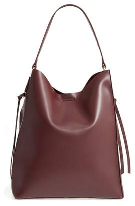 Sole Society Prima Faux Leather Bucket Bag & Zip Pouch