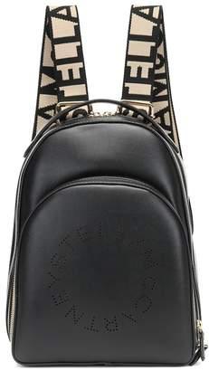 Stella McCartney Logo faux-leather backpack