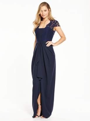Very Bridesmaids Cap Sleeve Lace Maxi Dress
