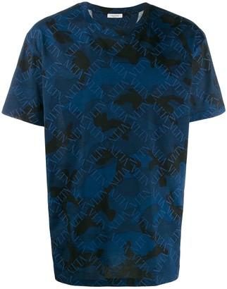 Valentino logo camouflage print T-shirt