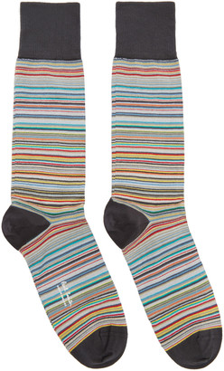 Paul Smith Three-Pack Multicolor Striped Socks $75 thestylecure.com