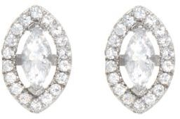 Crislu Marquise-Cut Cubic Zirconia & Platinum Stud Earrings
