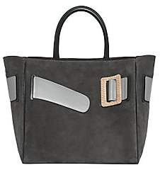 Boyy Women's Large Buckle Suede & Leather Tote Bag