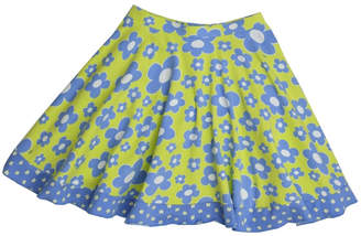 Three Friends Apparel Blue Flower Skirt