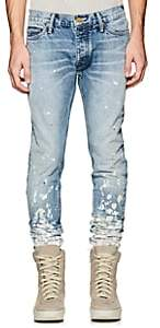 Fear Of God Men's Painters Distressed Slim Jeans-Lt. Blue