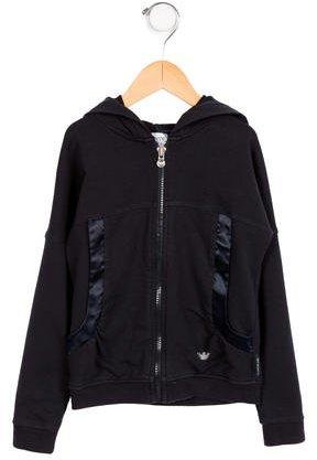 Armani JuniorArmani Junior Girls' Hooded Zip-Up Sweatshirt