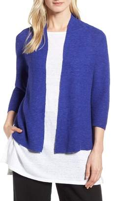 Eileen Fisher Simple Organic Linen & Cotton Cardigan