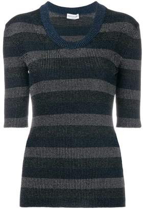 Sonia Rykiel v-neck striped knitted T-shirt
