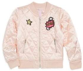 Design History Little Girl's Glossy Quilted Jacket