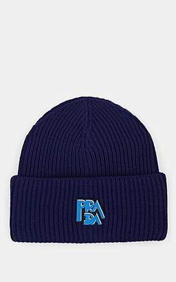 476e1e8a395 Prada Women s Rib-Knit Wool Beanie - Blue