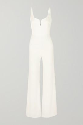Galvan Paneled Crepe Jumpsuit - White