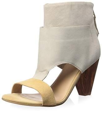 J Shoes Women's Bernice Wood Block Heel High Shaft Bootie/Sandal
