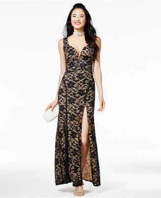 Emerald Sundae Juniors' Lace Gown $79 thestylecure.com