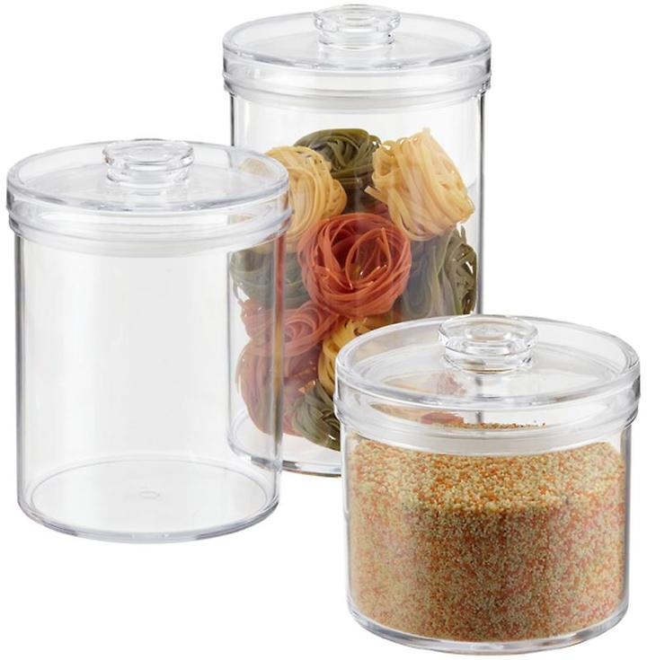 Container Store 78 oz. Round Acrylic Canister 2.4 qt.