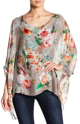 Lola Made In Italy Floral Bell Sleeve Blouse