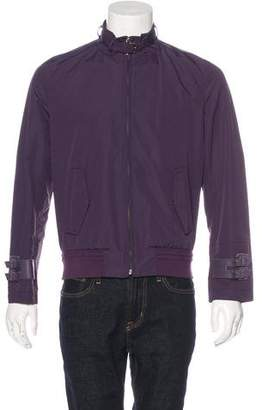 Hogan Leather-Trimmed Jacket w/ Tags