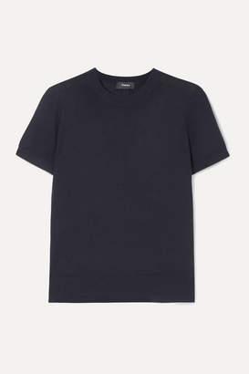 Theory Wool-blend T-shirt - Navy