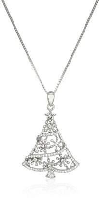 Swarovski Sterling Elements Crystal Christmas Tree Pendant Necklace