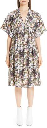 ADAM by Adam Lippes Floral Print Poplin Dress