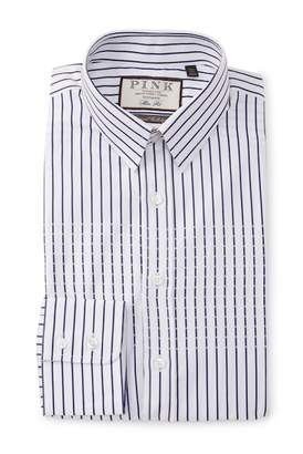 Thomas Pink Slim Fit Bettinson Stripe Dress Shirt