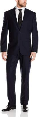 Vince Camuto Men's Modern Fit 2 Button Side Vent Suit with Flat Front Pant