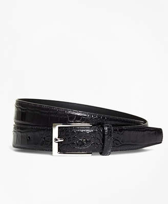 Brooks Brothers Embossed Leather Belt