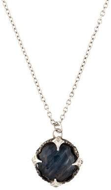 Armenta Diamond-Accented Pietersite & Quartz Doublet Pendant Necklace