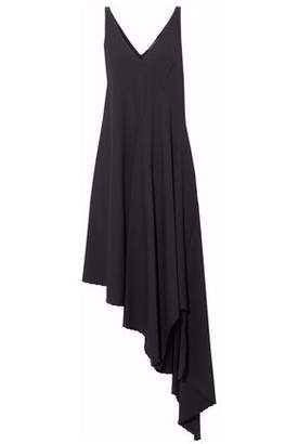 Zac Posen Asymmetric Draped Stretch-Crepe Dress