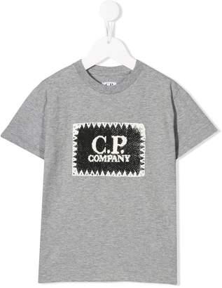 C.P. Company Kids logo patch T-shirt